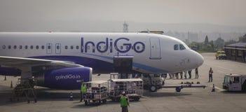 Aéroport de Tribhuvan à Katmandou, Népal Photo stock