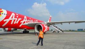 Aéroport de Tribhuvan à Katmandou, Népal Images libres de droits
