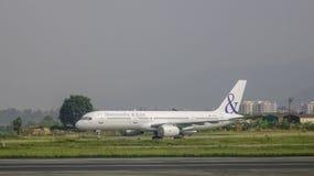 Aéroport de Tribhuvan à Katmandou, Népal Image stock