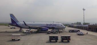 Aéroport de Tribhuvan à Katmandou, Népal Photographie stock