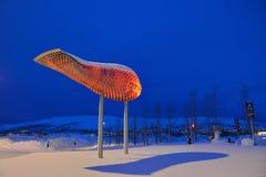 Aéroport de Tromso, Norvège Image libre de droits