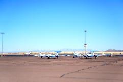 Aéroport de Vellay de cerfs communs Photos libres de droits