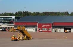Aéroport de ville de Goteborg, 2014, été Photographie stock