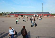 Aéroport de ville de Goteborg, 2014, été Photos stock