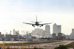 Aéroport de ville de Londres Photos stock