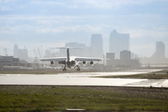 Aéroport de ville de Londres Image libre de droits