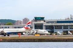 Aéroport de ville de Londres Images libres de droits