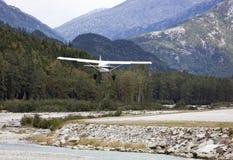 Aéroport de ville du ` s Skagway de l'Alaska Photos libres de droits