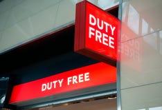 Aéroport de Vnukovo de connexion de boutique hors taxe à la soirée Photographie stock libre de droits
