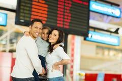 Aéroport de vol de famille Photo stock