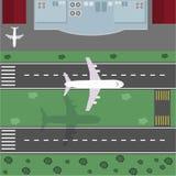 Aéroport de vue supérieure Images stock