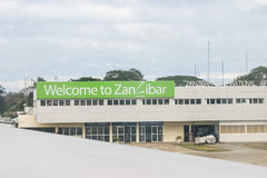 Aéroport de Zanzibar Photo stock