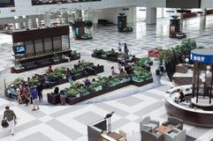 Aéroport de Zhuhai - déviation dans le hall Photographie stock libre de droits