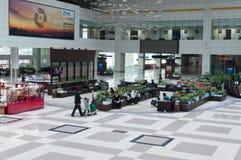 Aéroport de Zhuhai - déviation dans le hall Image libre de droits