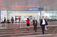 Aéroport de Zhuhai - hall d'arrivée Photographie stock libre de droits