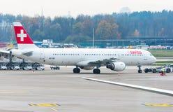 Aéroport de Zurich le 28 novembre 2013 Images stock