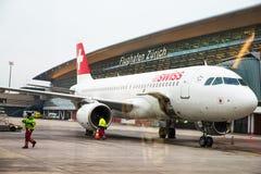 Aéroport de Zurich le 28 novembre 2013 je Photographie stock