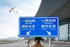Aéroport dehors Photo libre de droits