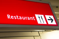 Aéroport directionnel de connexion de restaurant Photos stock