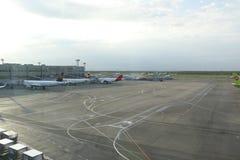 Aéroport Domodedovo en 2016 dans la ville de Moscou Photographie stock