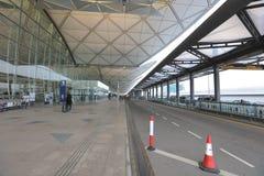 Aéroport du HK de route de plaza de ciel Images stock