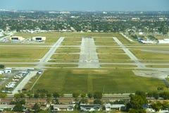 Vue aérienne d'aéroport Image stock