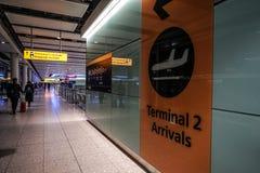 Aéroport du Royaume-Uni Heathrow photographie stock libre de droits
