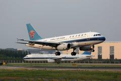 Aéroport du sud de Pékin d'avion de la Chine Airbus A319 Images stock