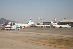 Aéroport, en île de Jeju, la Corée du Sud Images stock