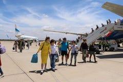 Aéroport en 2016 dans la ville d'Agadir Image stock