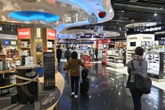 Aéroport en franchise Photographie stock libre de droits