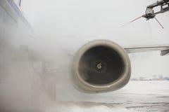 Aéroport en hiver Photo libre de droits