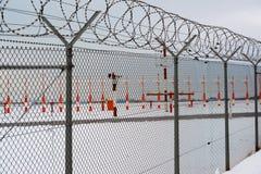 Aéroport en hiver Photos libres de droits