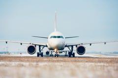 Aéroport en hiver Images libres de droits