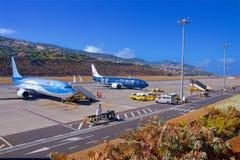 Aéroport en la Madère, Portugal Image libre de droits