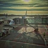 Aéroport en Pologne Image libre de droits