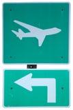 Aéroport ensuite quitté Image stock