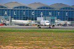 Aéroport Espagne d'Alicante photo libre de droits