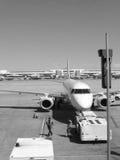 Aéroport et avion Photographie stock