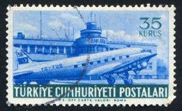 Aéroport et avion de Yesilkoy Photo stock