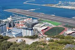 Aéroport et stade du Gibraltar Photographie stock