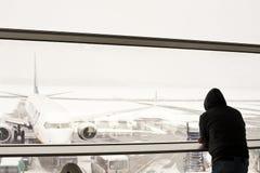 Aéroport fermé Image stock