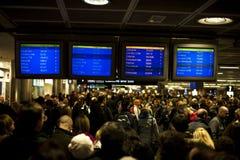 Aéroport fermé, vols annulés Images libres de droits