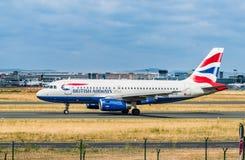 AÉROPORT FRANCFORT, ALLEMAGNE : LE 23 JUIN 2017 : Airbus A320 AI britannique Photo libre de droits