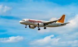 AÉROPORT FRANCFORT, ALLEMAGNE : LE 23 JUIN 2017 : Airbus A320 Pegasus AI Image libre de droits