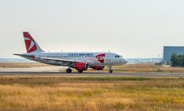 AÉROPORT FRANCFORT, ALLEMAGNE : LE 23 JUIN 2017 : Airbus A319 Tchèque Airl Photos stock
