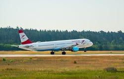 AÉROPORT FRANCFORT, ALLEMAGNE : LE 23 JUIN 2017 : Autrichien AI de Boeing 767 Images libres de droits