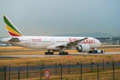 AÉROPORT FRANCFORT, ALLEMAGNE : LE 23 JUIN 2017 : Boeing 767 A éthiopien Images stock