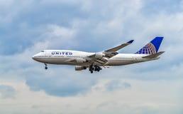AÉROPORT FRANCFORT, ALLEMAGNE : LE 23 JUIN 2017 : Boeing 747 Airl uni Photo stock