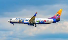 AÉROPORT FRANCFORT, ALLEMAGNE : LE 23 JUIN 2017 : Boeing 737-800 SunExpr Photos libres de droits